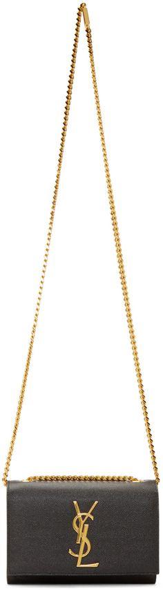 Saint Laurent - Black Leather Small Monogramme  Shoulder Bag