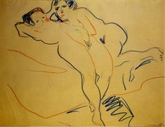 Ernst Ludwig Kirchner: Couple (1908)