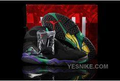 ca17551d3c3433 New Air Jordan 8 Retro Black Purple Green For Sale