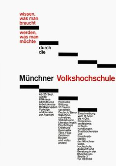 rolf müller designculture munchner volkshochschule poster plakat
