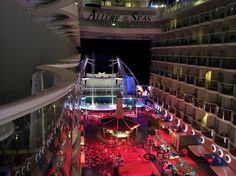 Night time view of Allure of the Seas