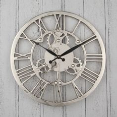 Nickel Cog Wall Clock – Allissias Attic & Vintage French Style