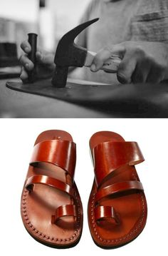 Before and After: Handmade Leather Thongs