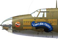 B-26B-2-MA 41-17765 'Lady Halitosis' flown by 1/Lt Tom Memory and 1/Lt John McVay of the 441st BS, 320th BG