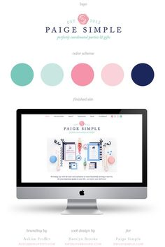 Paige Simple website, designed by Katelyn Brooke with branding by Ashlee Proffitt || http://katelynbrooke.com