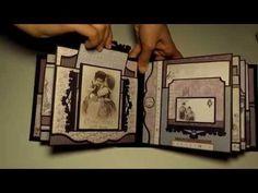 Graphic 45 ''Gilded Lily Mini Album'' - PDF Tutorial - YouTube
