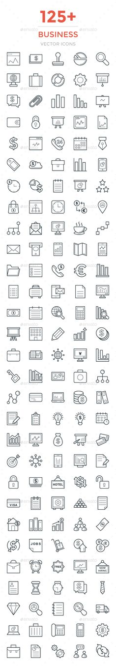 125+ Business Vector Icons. Download here: https://graphicriver.net/item/125-business-vector-icons/17043572?ref=ksioks
