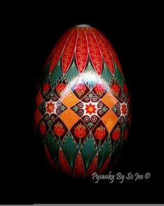 Fall Florals Ukrainian Easter Egg Pysanky By So Jeo