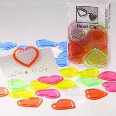 Laurel Büroklammer Herz-Klip aus Polystyrol, 30 mm, Klarsichtpackung, kristallfarbig sortiert von Laurel, http://www.amazon.de/dp/B008MTXMME/ref=cm_sw_r_pi_dp_fHTutb0Q2K6E3