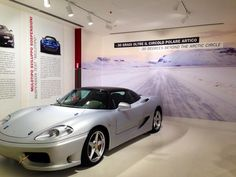 Twitter / @Joy Dombrow: Hmm...Driving a Ferrari in the Arctic? I think they should have us try it out