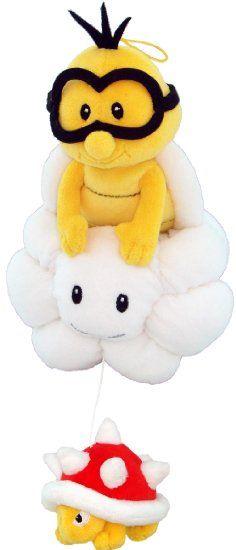 """Amazon.com: Sanei Super Mario Plush Series Plush Doll 8"""" Lakitu/Jyugemu Plush Japanese Import: Toys & Games"""