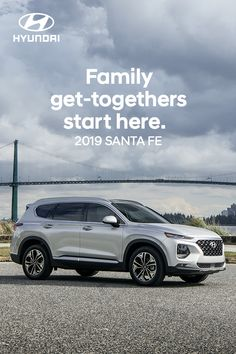 Take the comfort of your family room along for the ride. The 2019 Hyundai Santa Fe has everything you need to make the most of quality time. Hyundai Cars, Hyundai Vehicles, Compact Suv, Suv Cars, Car Shop, Family Adventure, Quality Time, Santa Fe, Volvo