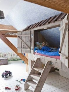 a clubhouse bed and room theme would be awesome for smaller kids