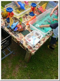 can i play here??  Fun outdoor sensory and more!