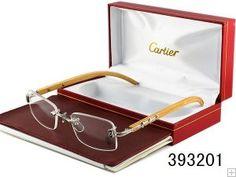 Cartier Glasses Rimless Bamboo frame 393201