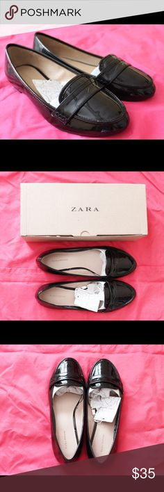 •New• Zara trafaluc loafers New with tag and come with a box! No trades! No flaws or stains. Loafers in Negro/black/noir. [Open for offers] Zara Shoes Flats & Loafers