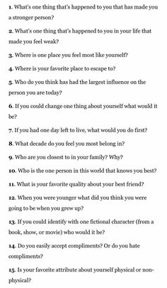 Some really great journaling prompts if you feel creative today! Questions To Get To Know Someone, Fun Questions To Ask, Getting To Know Someone, This Or That Questions, Interesting Questions To Ask, Truth Or Dare Questions, 21 Questions Game, Questions For Friends, Questions For Your Crush