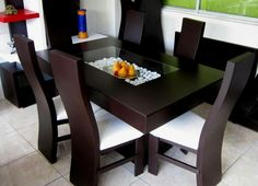30 Comfort & Contemporary Brown Wood Tables With Chairs & Furniture - Decor Units Dinner Tables Furniture, Dining Room Furniture Design, Dinning Table Design, Dinning Set, Glass Dining Table, Dining Decor, Furniture Decor, Wood Tables, 6 Seater Dining Table