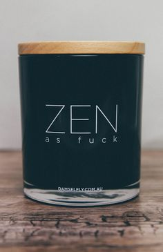 Delilah Candle - Zen As Fuck - Black