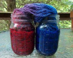 Multi Color Dyed Yarn Tutorial,  Part 1 of Fiber To Dye For Series Fiberartsy.com