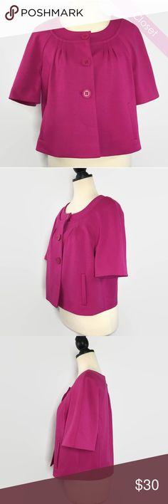 Loft Bright Pink Cap Short Sleeve Blazer NWT 12P NWT  Loft Bright Pink Cap Short Sleeve Blazer LOFT Jackets & Coats Blazers