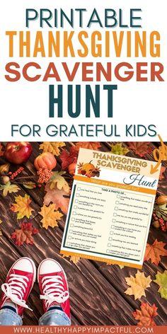 Printable Thanksgiving Scavenger Hunt for Grateful Kids