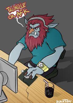 Fanart of League of legends: Trundle gamer.