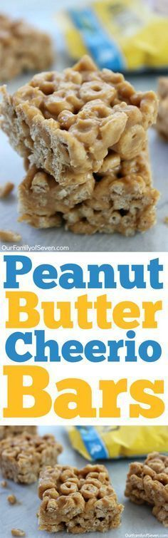Peanut Butter Cheerio Bars- Just three simple ingredients with no baking involved.