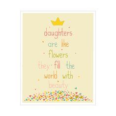 Children's Wall Art / Nursery Decor Daughters are by KZukowski, $20.00