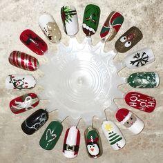 Disney Christmas Nails, Xmas Nails, Christmas Nail Designs, Great Nails, Love Nails, Nail Spa, Manicure And Pedicure, This Little Piggy, Nail Polish Collection