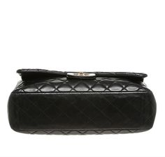 d1126e1757af3 Chanel Maxi Shoulder Flap Bag Black - Lambskin Leather