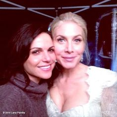 @LanaParrilla: This beautiful woman is a joy to work with! #ElizabethMitchell #OnceUponATime #OnceIsFrozen #EvilRegals