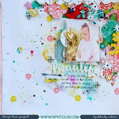 """388 Likes, 5 Comments - Hip Kit Club Scrapbooking Kits (@hipkitclub) on Instagram: """"Do you like lots of layers in your projects? Designer @flisw created this stunning layered layout…"""""""