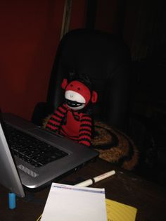 Satan on the computer.