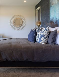 Deep, stunning and inspirational colour blue will give your home a relaxed and open look. Whether you use its darker shades or pale muted tones, blue will help you create an atmosphere of serenity and tranquillity in your home. Royal Bedroom, Bedroom Wall, Antique Cupboard, Blue Tiles, White Bedding, Classic Furniture, Blue Design, Blue Area Rugs, Living Room Designs