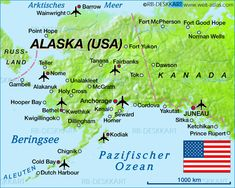 Alaska | Map of Alaska (United States) - Map in the Atlas of the World - World ...