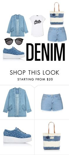 """DENIM"" by annabellechic ❤ liked on Polyvore featuring Steve J & Yoni P, Ally Fashion, Karl Lagerfeld, Seafolly and Yves Saint Laurent"