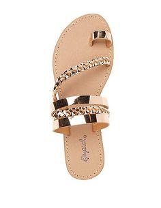 Qupid Braided Toe Loop Sandals