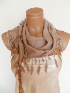 FREE SHIPPING New Design Pashmina scarf with lace by smilingpoet on Etsy, $18.90