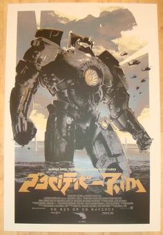 "2013 ""Pacific Rim"" - Variant Movie Poster by Domaradzki"