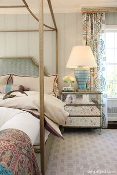 designer bedroom with gilded canopy bed by House of Ruby #canopy #bed #bedroom