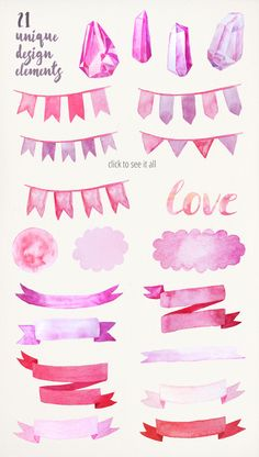 Watercolor Valentine Collection by LarysaZabrotskaya on Creative Market Watercolor Stickers, Watercolor Wallpaper, Watercolor Brushes, Watercolor Texture, Abstract Watercolor, Good Notes, Printable Planner Stickers, Nagel Gel, Note Paper