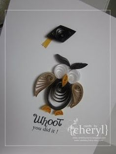 owl-- No Pattern #inspiration  #quilling #quilled