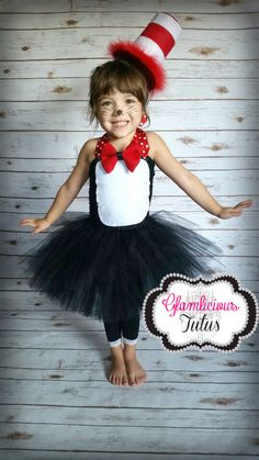 Cat in the Hat inspired Tutu Dress  Tuxedo by GlamliciousTutus