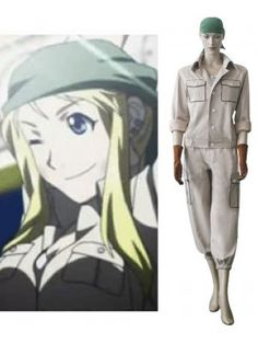 FullMetal Alchemist Brotherhood Winry Rockbell Cosplay Outfits Costumes