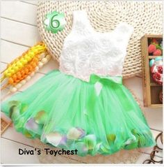Green Baby Girl Party Dress-6-12mos Flower Girl Dress-Floating Rose Pedals-Girls Chiffon Dress-Pearl Dress Tutu-Mint Green Tutu Dress-Dress by DivasToychest on Etsy