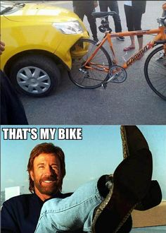 Chuck norris bike! haven't seen any funny chuck norris lately...@Sarah Good