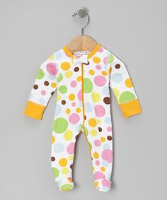 Take a look at this Orange Bubblegum Organic Footie - Infant by Sweet Peanut on #zulily today!