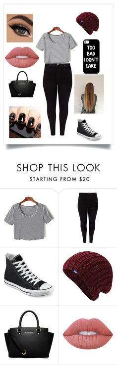 """""""Untitled #39"""" by arty15only ❤ liked on Polyvore featuring WithChic, Studio 8, Converse, Keds, MICHAEL Michael Kors and Lime Crime"""