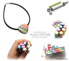 Tutorial  by Lucy Strucova - Puzzle pattern from Czextruder